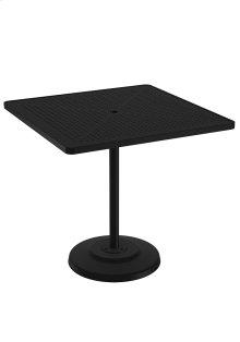 "Boulevard 42"" Square KD Pedestal Bar Umbrella Table"