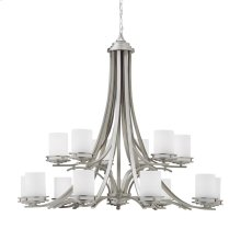 Hendrik Collection Hendrik 15 Light Chandelier in Brushed Nickel