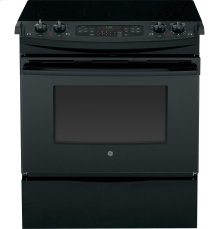 """GE® 30"""" Slide-In Front Control Electric Convection Range"""