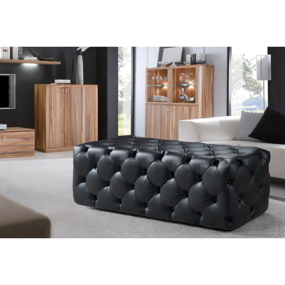 Divani Casa Maria Modern Black Eco-Leather Bench