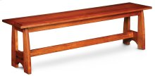 Aspen Dining Bench with Inlay, Wood Seat