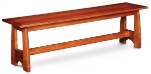"""Aspen Dining Bench with Inlay, Aspen Dining Bench with Inlay, 60""""w, Fabric Seat"""