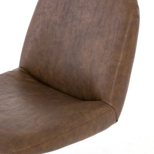 Distressed Brown Cover Amber Desk Chair