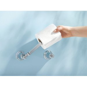 Rothbury brushed nickel pivoting paper holder