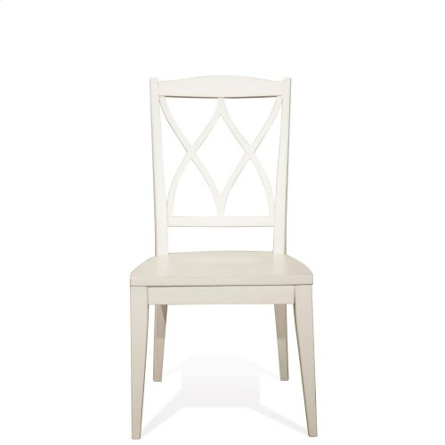 Myra - Xx-back Side Chair - Paperwhite Finish
