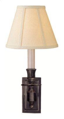 Visual Comfort S2210BZ-L Studio French 1 Light 6 inch Bronze Decorative Wall Light in Linen