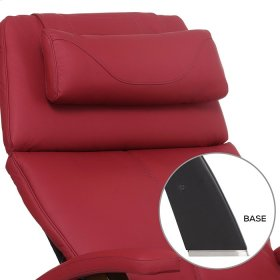 Perfect Chair PC-420 Classic Manual Plus - Red Top-Grain Leather - Matte Black