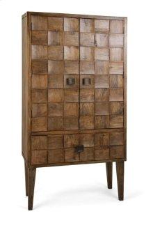 Cahan Wood Tile Armoire