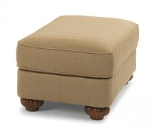Patterson Fabric Ottoman without Nailhead Trim