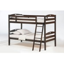 Sesame Twin Twin Bunk in Dark Chocolate Finish