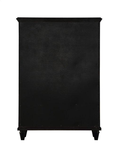 Emerald Home Home Decor 5 Drawer Chest-black B381-05blk