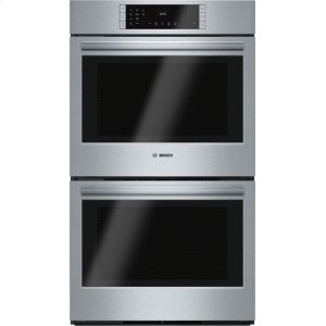 "Bosch800 Series, 30"", Double Wall Oven, SS, EU conv./Thermal, Touch Control"