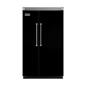 "Black 48"" Quiet Cool™ Side-by-Side Refrigerator/Freezer - VISB Tru-Flush™ (48"" wide)"