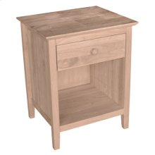 Unfinished Brooklyn 1 Drawer Nightstand