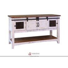 Pueblo White Collection 4 Door Cabinet