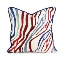 IK Bahari Multi-Color Embroidered Linen Pillow w/Down Fill