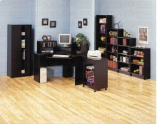 BOOKCASE/5 SHELF,BLK