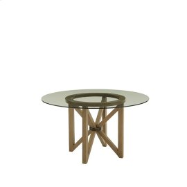 Glass Top Dining Table - Truffle Finish
