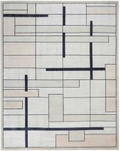 Christopher Guy Wool & Silk Collection Cgs19 Silvery Moon Rectangle Rug 6' X 9'