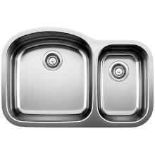Blancowave Plus 1-1/2 Bowl (bowl Depth 10'') - Satin Polished Finish
