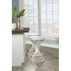 Hillsdale FurnitureKanister Backless Non-swivel Counter Stool - White