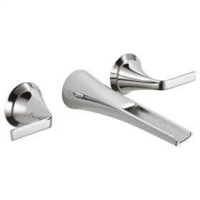 Two-handle Wall Mount Lavatory Faucet With Channel Spout