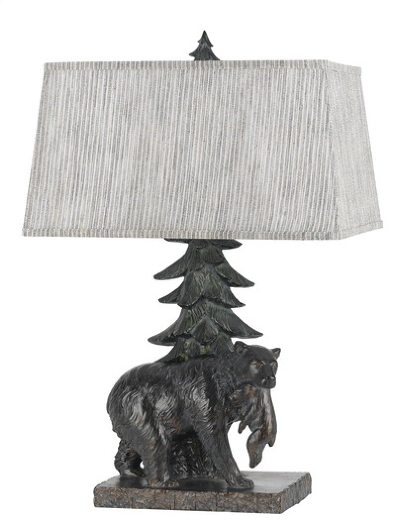 Bo2595tb in by cal lighting accessories in 100w resin bear 100w resin bear table lamp with softback fabric shade geotapseo Choice Image