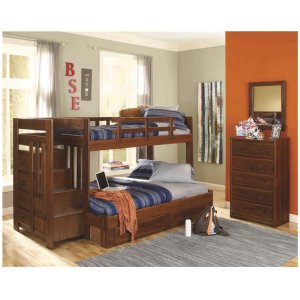 Heartland Reversible Staircase Twin over Full with options: Chocolate, Twin over Full