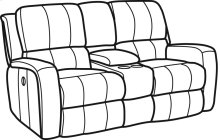 Hammond Fabric Power Reclining Loveseat with Console