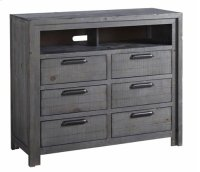Media Chest - Distressed Dark Gray Finish Product Image