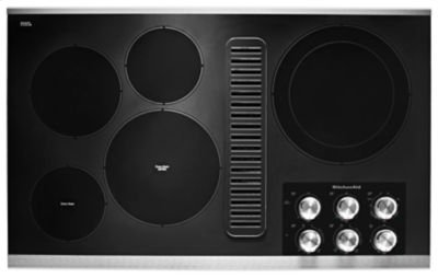 """36"""" Electric Downdraft Cooktop with 5 Elements - Stainless Steel Product Image"""