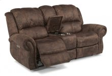 Patton Fabric Power Reclining Loveseat with Console and Power Headrests