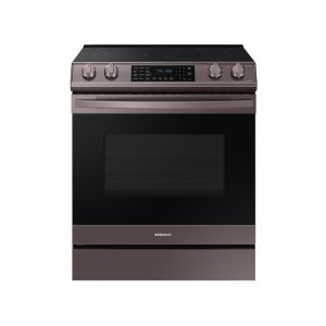 Samsung6.3 cu. ft. Front Control Slide-in Electric Range with Air Fry & Wi-Fi in Tuscan Stainless Steel