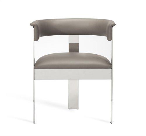 Darcy Dining Chair - Grey/ Nickel