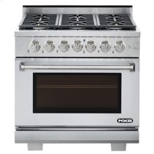 """NXR 36"""" Professional Range with Six Burners, Convection Oven, Propane Gas (AK3605LP - Culinary Series)"""