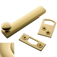 Non-Lacquered Brass General Purpose Surface Bolt