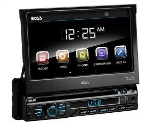 """Single-DIN, DVD Player 7"""" Motorized Touchscreen Detach Panel Bluetooth"""