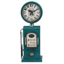 Route 66 Blue Table Top Clock