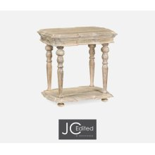 Limed Acacia Side Table