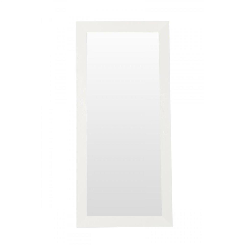 A&X Regal - Modern White Crocodile Floor Mirror