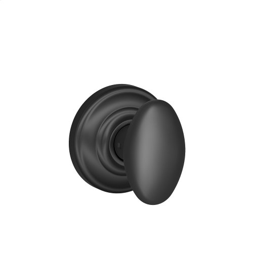 Siena Knob with Andover trim Non-turning Lock - Matte Black