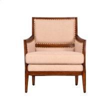 Ecru Fabric, Natural Saguran Purveyor Lounge Chair