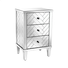 Chatelet 3-Drawer Chest In Clear Mirror Finish