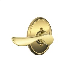 Champagne Lever with Wakefield Trim Non-Turning Lock - Bright Brass