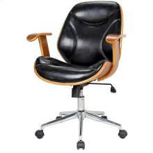 Costa Office Chair, Black/Walnut