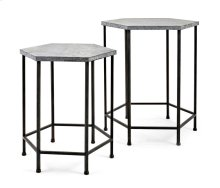 Kendan Galvanized Accent Tables - Set of 2