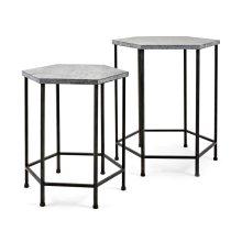 Kendan Galvanized Accent Tables - Set of 2
