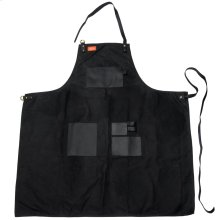 Grilling Apron - Black Canvas & Leather XL