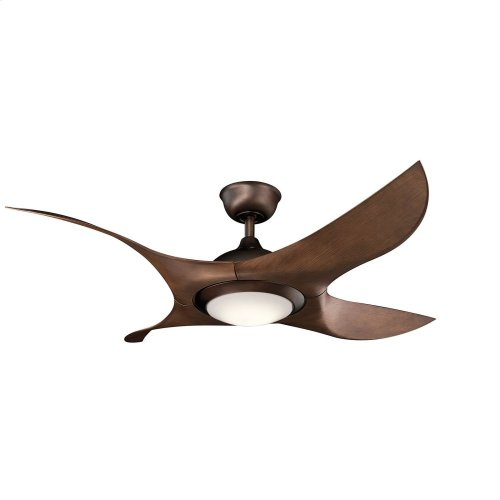 "Shuriken LED 52"" Fan Oil Brushed Bronze"