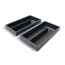 Organization kit for 45° + 51 vanity drawers: 2 storage compartments